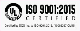 UL Registered Firm: Certified by UL DQS Inc. to ISO 9001:2015. (10002397 QM15)